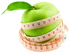 pomme granny régime amincissant fond blanc